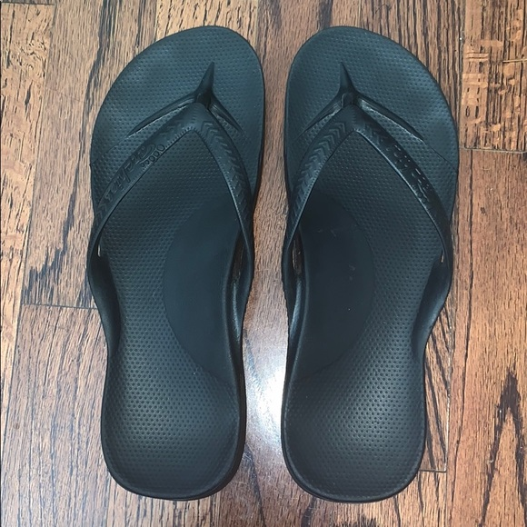 Mens Archies High Arch Support Thongs Navy Sandal Flip Flop